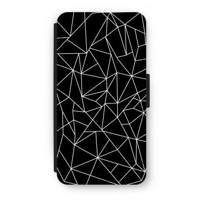 coque-portefeuille-huawei-ascend-p10 - Lignes géométriques blanches