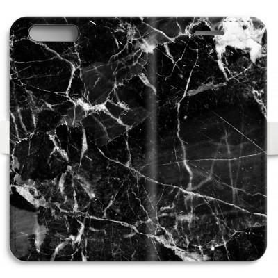 coque-portefeuille-entierement-imprimee-huawei-ascend-p10 - Marbre Noir 2