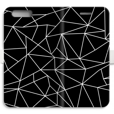 coque-portefeuille-entierement-imprimee-huawei-ascend-p10 - Lignes géométriques blanches