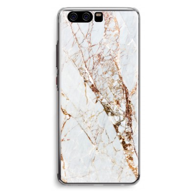 huawei-p10-transparent-fodral - Guld marmor
