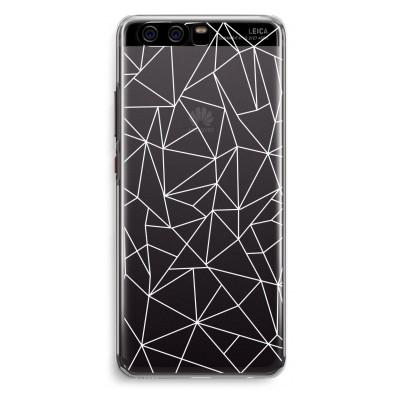 coque-huawei-p10-transparante - Lignes géométriques blanches