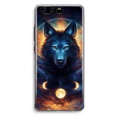 coque-huawei-p10-transparante - Wolf Dreamcatcher