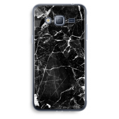 samsung-galaxy-j3-2016-transparent-case - Black Marble 2