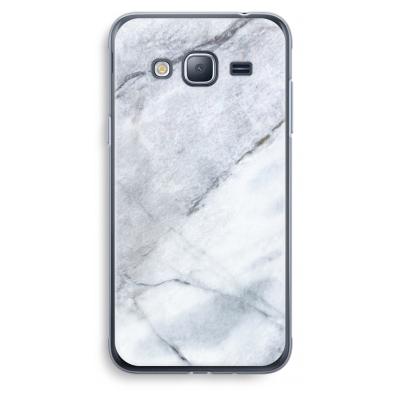 samsung-galaxy-j3-2016-transparent-case - Marble white
