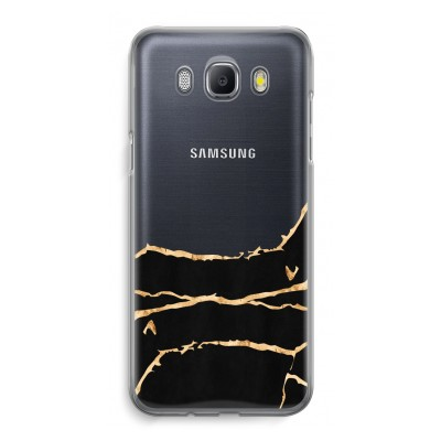 samsung-galaxy-j5-2016-transparent-case - Gold marble