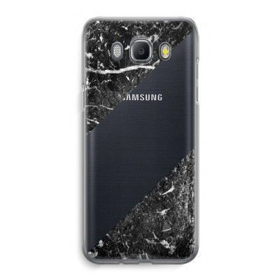 samsung-galaxy-j5-2016-transparent-case - Black marble