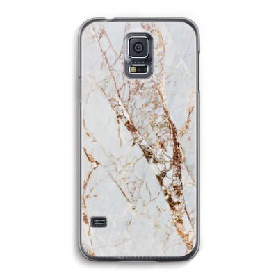 samsung-galaxy-s5-transparante-cover - Goud marmer
