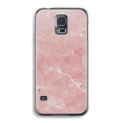 samsung-galaxy-s5-transparante-cover - Roze marmer