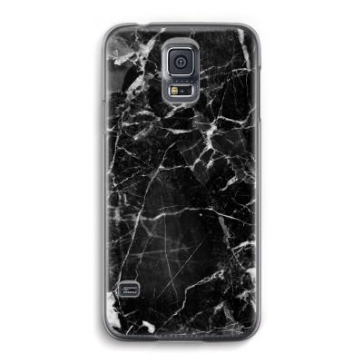 samsung-galaxy-s5-transparante-cover - Zwart Marmer 2