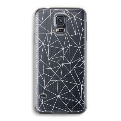 samsung-galaxy-s5-transparante-cover - Geometrische lijnen wit