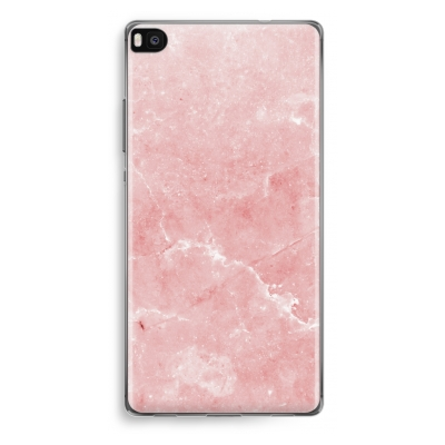 huawei-ascend-p8-transparent-case - Pink Marble