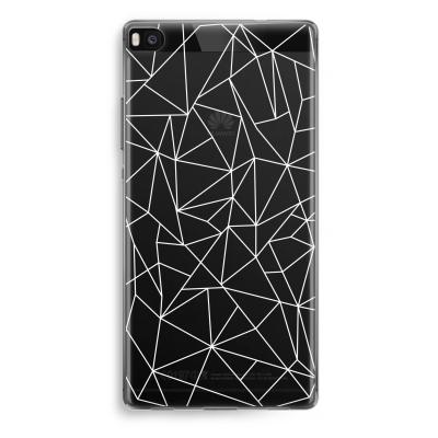 huawei-ascend-p8-funda-transparente - Líneas geométricas blanco