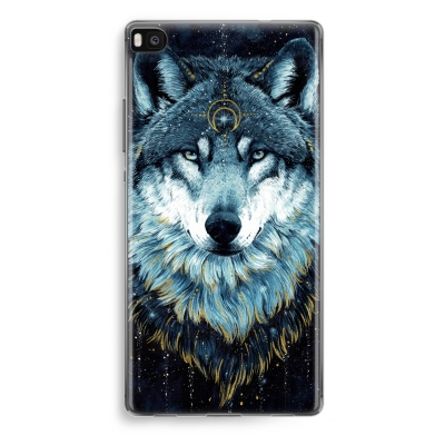 huawei-ascend-p8-transparant-hoesje - Darkness Wolf