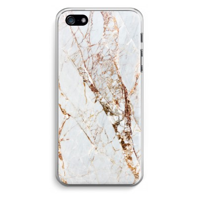 iphone-5-5s-se-transparent-fodral - Guld marmor