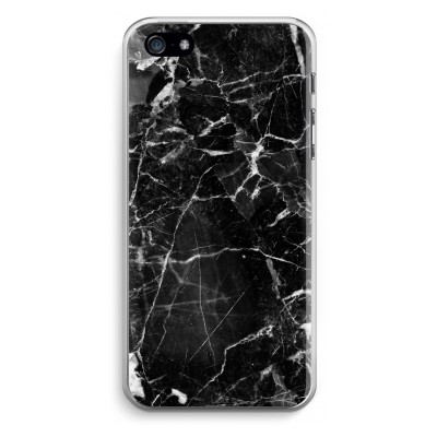 iphone-5-5s-se-transparante-cover - Zwart Marmer 2