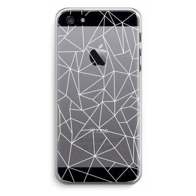 iphone-5-5s-se-transparante-cover - Geometrische lijnen wit