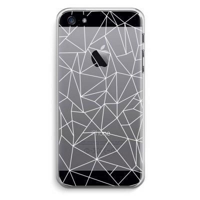 coque-iphone-5-5s-se-transparante - Lignes géométriques blanches