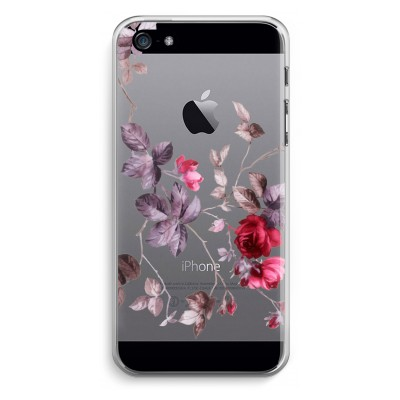 iphone-5-5s-se-transparent-case - Pretty flowers