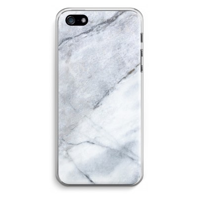 iphone-5-5s-se-transparent-case - Marble white