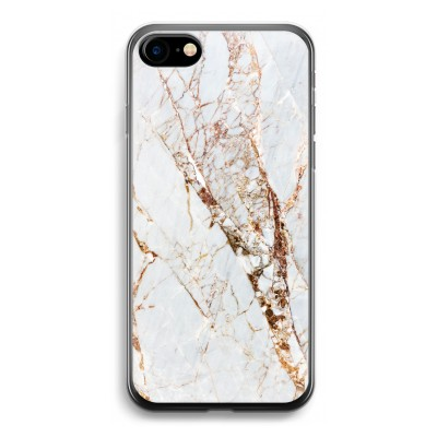 iphone-7-transparante-cover - Goud marmer
