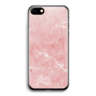 iphone-7-transparante-cover - Roze marmer