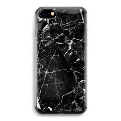 iphone-7-transparante-cover - Zwart Marmer 2