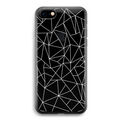 iphone-7-transparante-cover - Geometrische lijnen wit