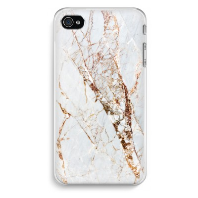 iphone-4-4s-transparent-fodral - Guld marmor