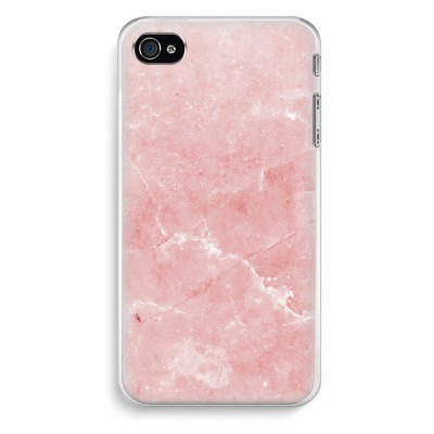 iphone-4-4s-transparent-fodral - Rosa marmor