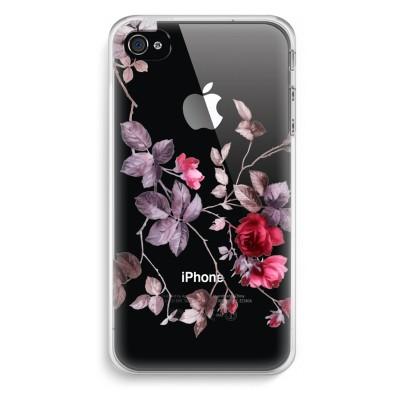iphone-4-4s-transparent-case - Pretty flowers