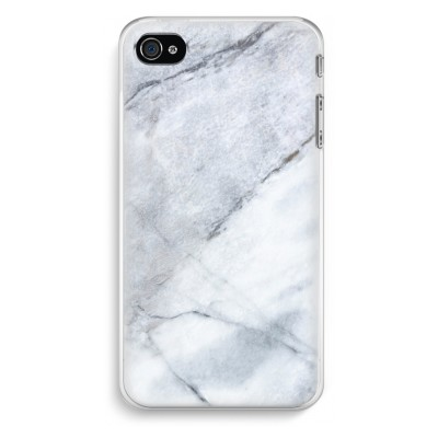 iphone-4-4s-transparent-case - Marble white