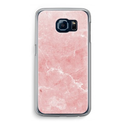 samsung-galaxy-s6-transparante-cover - Roze marmer