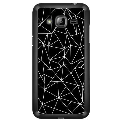 samsung-galaxy-j3-case-2016 - Geometric lines white