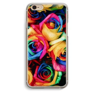 iphone-6-6s-transparante-cover - Neon bloemen