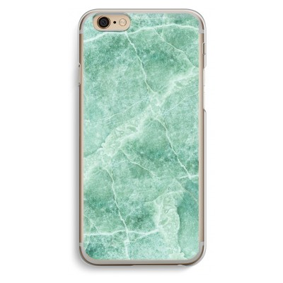 iphone-6-6s-transparent-case - Green marble