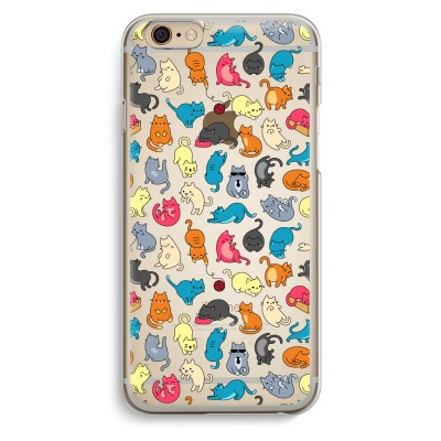 iphone-6-6s-transparent-case - Colourful cats