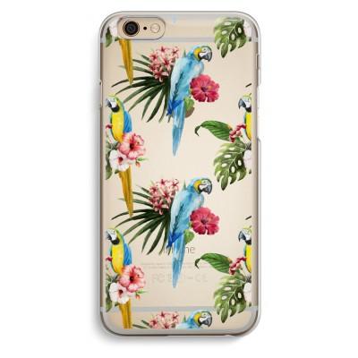 iphone-6-6s-transparante-cover - Kleurrijke papegaaien
