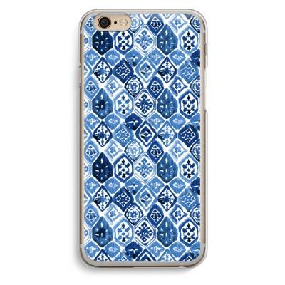 iphone-6-6s-transparante-cover - Blauw motief