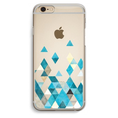 iphone-6-6s-transparent-case - Coloured triangles blue