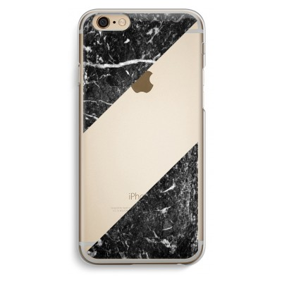 iphone-6-6s-transparante-cover - Zwart marmer