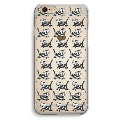 iphone-6-6s-transparante-cover - Zwarte poes