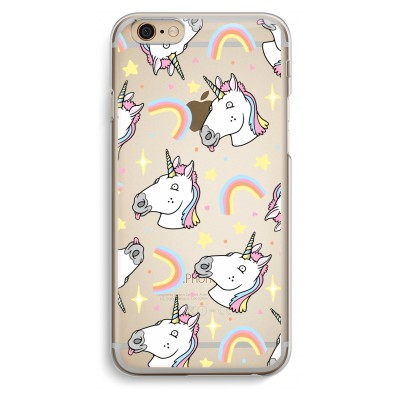 iphone-6-6s-transparent-case - Rainbow Unicorn