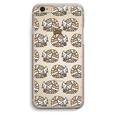 iphone-6-6s-transparante-cover - Slapende poes