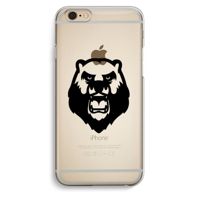 iphone-6-6s-transparante-cover - Angry Bear (black)