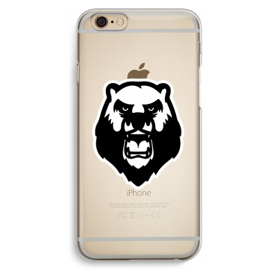 iphone-6-6s-transparante-cover - Angry Bear (white)