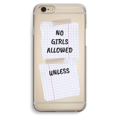 iphone-6-6s-transparent-case - No Girls Allowed Unless
