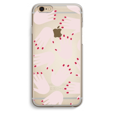 coque-iphone-6-6s-transparante - Hands pink