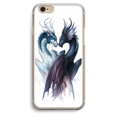 coque-iphone-6-6s-transparante - Yin Yang Dragons