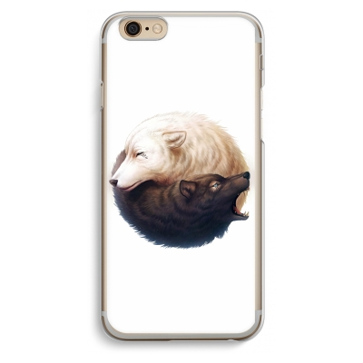 iphone-6-6s-funda-transparente - Yin Yang Wolves