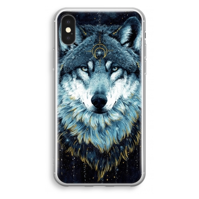 iphone-xs-transparant-hoesje - Darkness Wolf